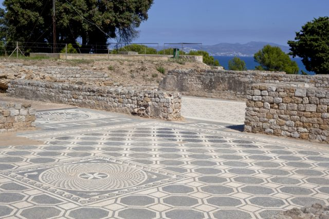 L2F Mar 17 pic Spain Catalonia Girona Empuries mosaic floor shutterstock_385960987