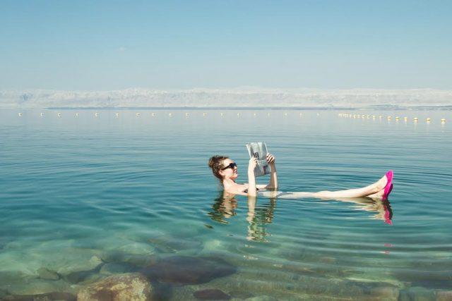 L2F Apr 17 pic Jordan Dead Sea woman floating Shutterstock ra66