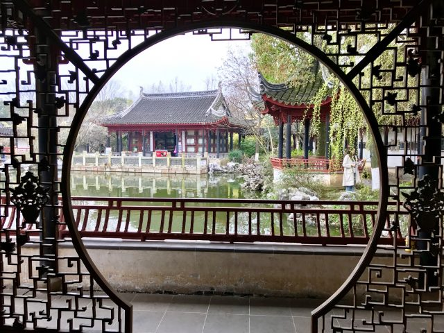L2F May 17 pic China water towns Tongli framed garden