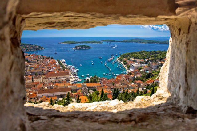 L2F May 17 pic Croatia Dalmatia Hvar bar thru stone window 435327199
