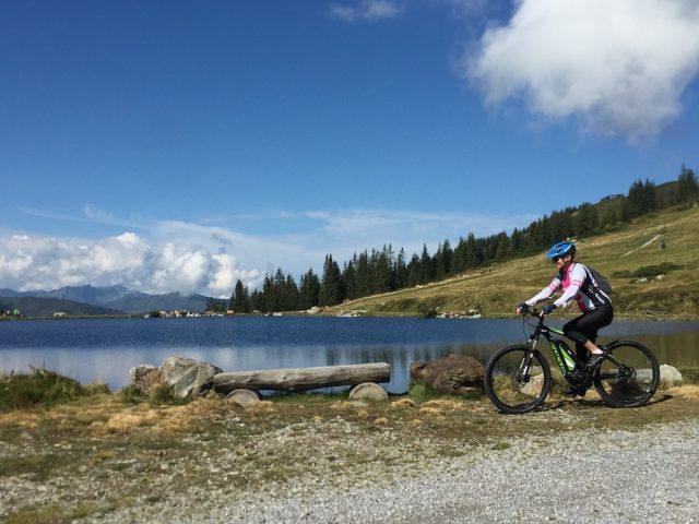 L2F May 17 pic Europe Alps mountain biking Westendorf lake Felice Hardy