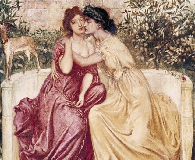 L2F Jun 17 pic gay pride museums Tate Sappho_and_Erinna_in_a_Garden_at_Mytilene