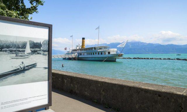 L2F Aug 17 pic Switzerland Lausanne Lake Geneva steamship