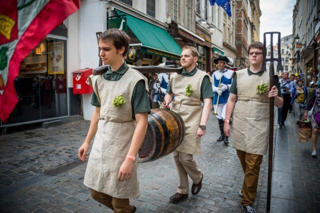 L2F Sep 17 pic Belgium Brussels beer weekend beermakers parade
