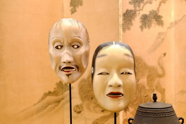 L2F Sep 17 pic Japan noh theatre masks shutterstock_402006505
