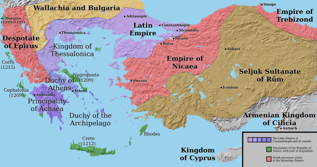 L2F Sep 17 pic Spanish history Greece Duchy of Athens map