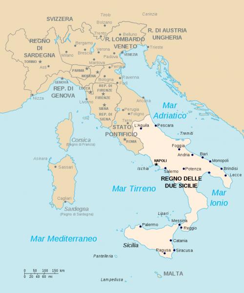 L2F Sep 17 pic Spanish history Kingdom Two Sicilies map