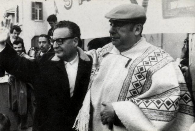 L2F Oct 17 pic Chile Pablo Neruda with Salvador Allende Wikipedia