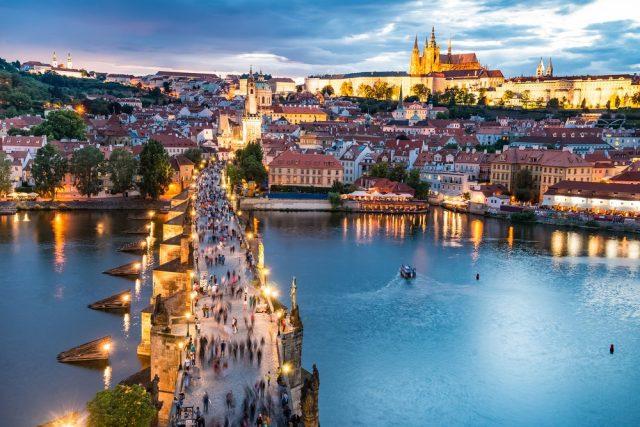 L2F Oct 17 pic Czech Prague Charles Bridge castle skyline shutterstock_300856853
