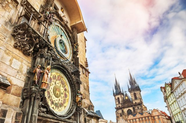 L2F Oct 17 pic Czech Prague Old Town Square clock Tyn shutterstock_389785234