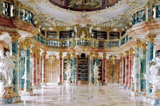 L2F Oct 17 pic Germany Baden Würtemburg castles Ulm Wiblingen library