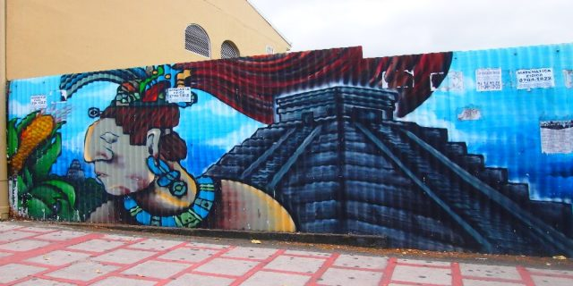 L2F Dec 17 pic Costa Rica San José street art Mayan theme