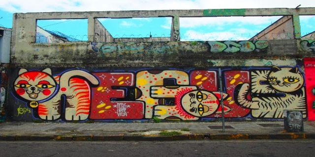 L2F Dec 17 pic Costa Rica San José street art cats
