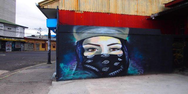 L2F Dec 17 pic Costa Rica San José street art masked anarchist woman