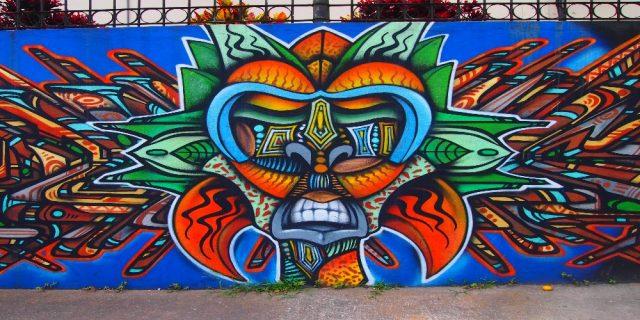 L2F Dec 17 pic Costa Rica San José street art native mask