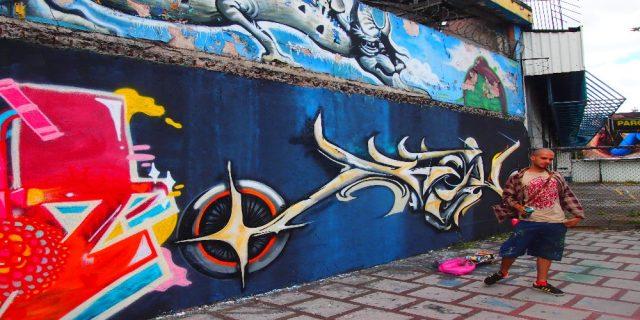 L2F Dec 17 pic Costa Rica San Jose street art lede with artist