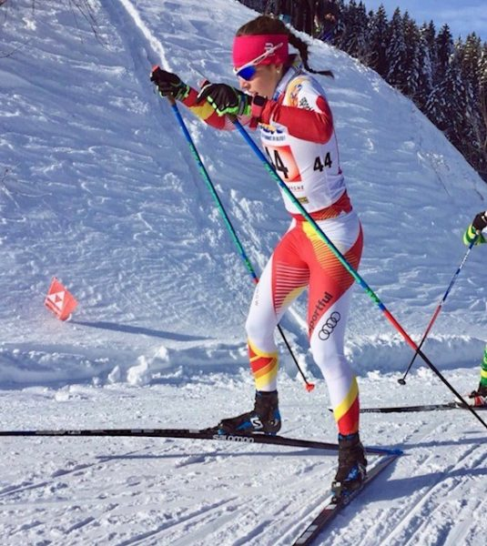L2F Feb 18 pic Winter Olympics Team Spain Lydia Iglesias Bares Nordic skier