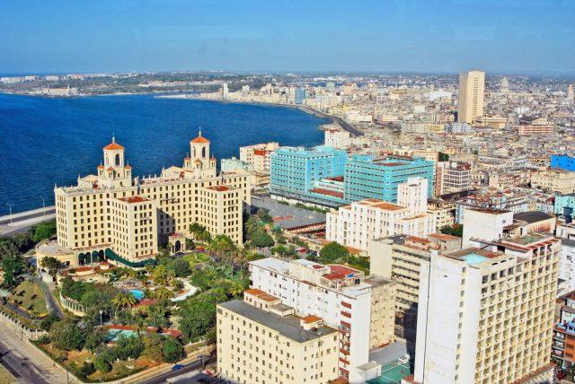 L2F May 18 pic Cuba Havana Vedado aerial view Hotel Nacional shutterstock_160703054