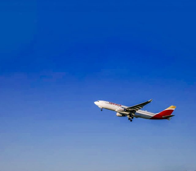 L2F May 18 aviation airlines Iberia plane flying
