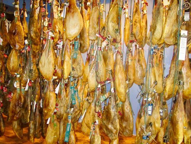L2F Jul 18 pic Spain ham wall of jamones Glynn
