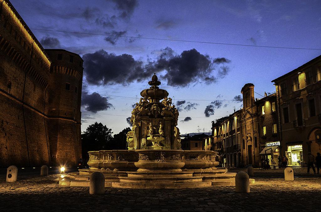 L2F Sep 18 pic Italy Cesena Piazza del Popolo dusk