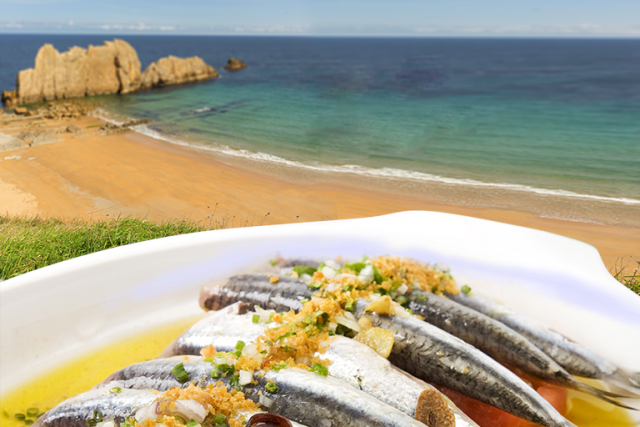 L2F Oct 18 pic Spain Cantabria gastronomy anchovies beach