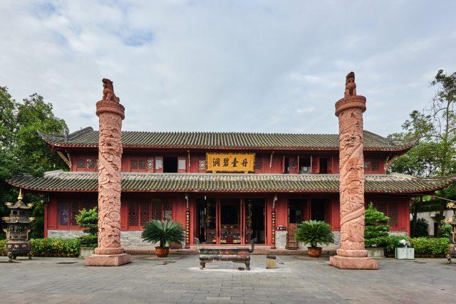 Qingyang Gong taoist temple in Chengdu Sichuan China