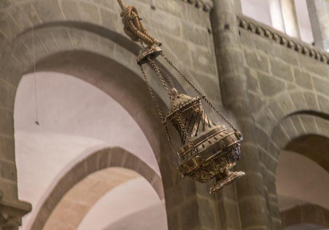 Botafumeiro in full Swing. Cathedral Santiago de Compostela. Camino de Santiago, World Heritage