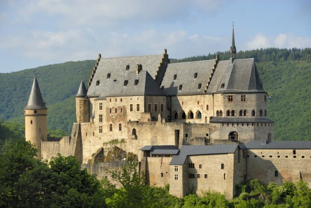 Castle in the city of Vianden in Luxembourg