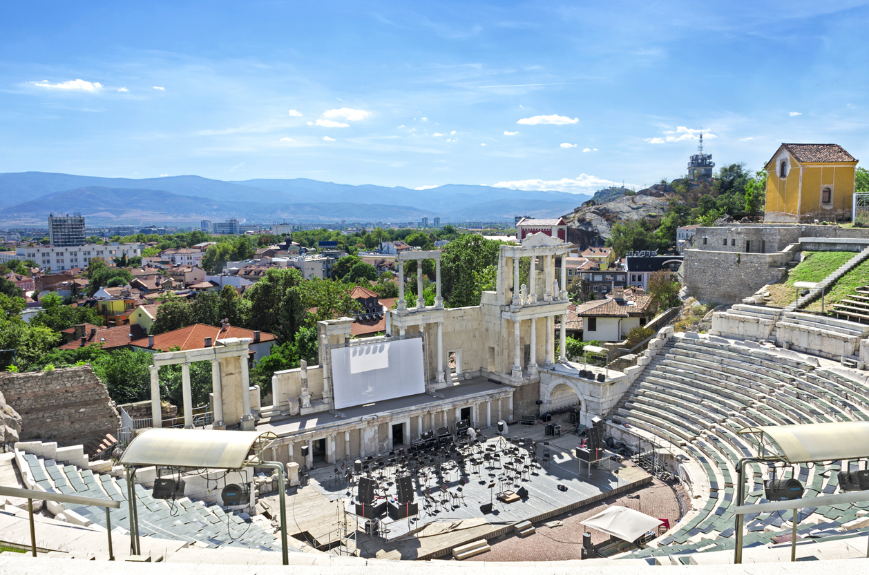 The old amphitheater of Plovdiv, Bulgaria.