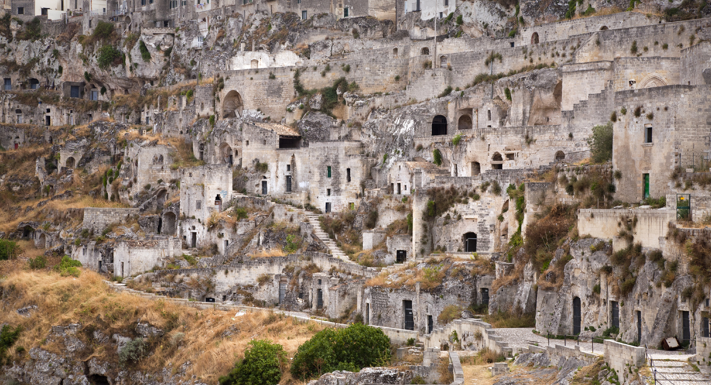 The Ancient town of Matera in southern Italy.
