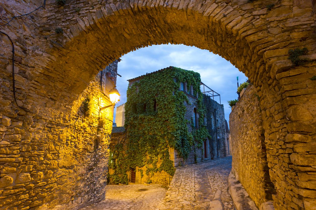 Historical Medieval village of Peratallada, Spain