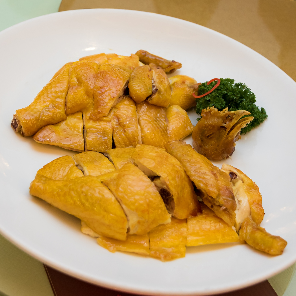 The Salt Baked Chicken has its roots as a Hakka Dish