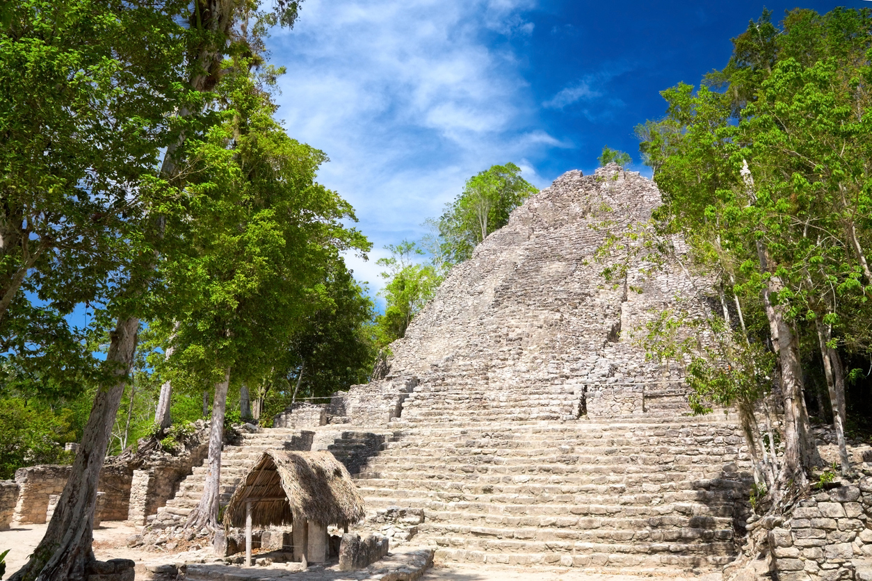 La Iglesia (Church) Pyramid, Coba, Quintana Roo, Mexico (La Iglesia