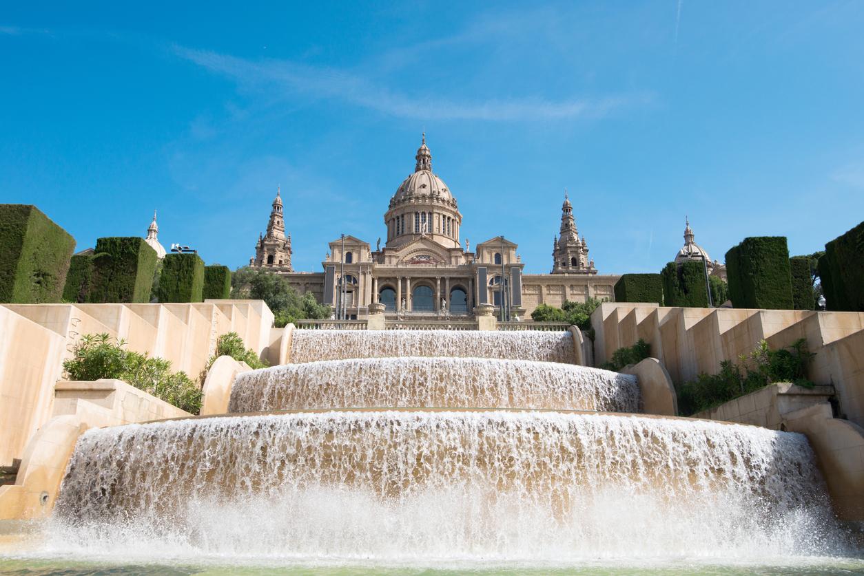 The Palau Nacional, situated in Montjuic (Barcelona)