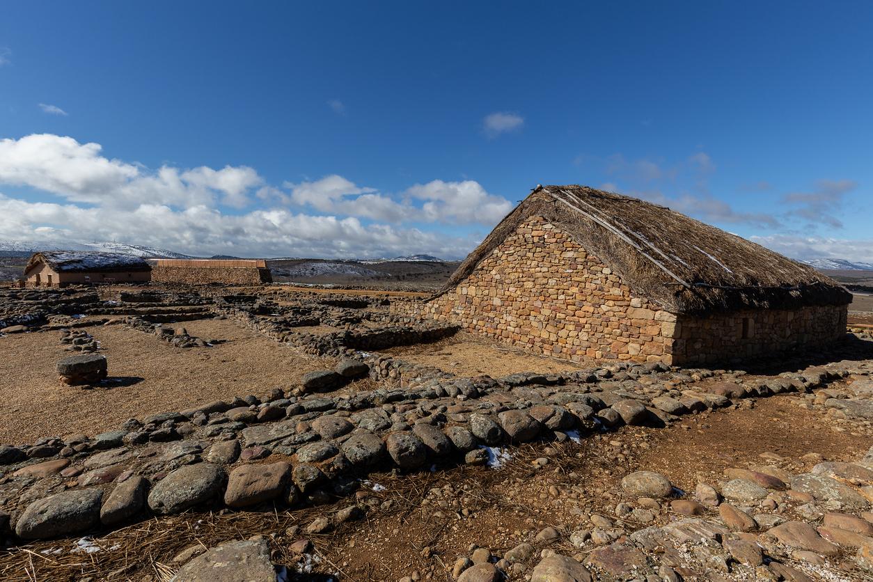 Numancia, romanic antique town in Soria, Spain