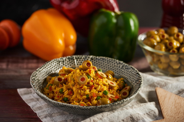 L2F May 19 olives latin rice dish
