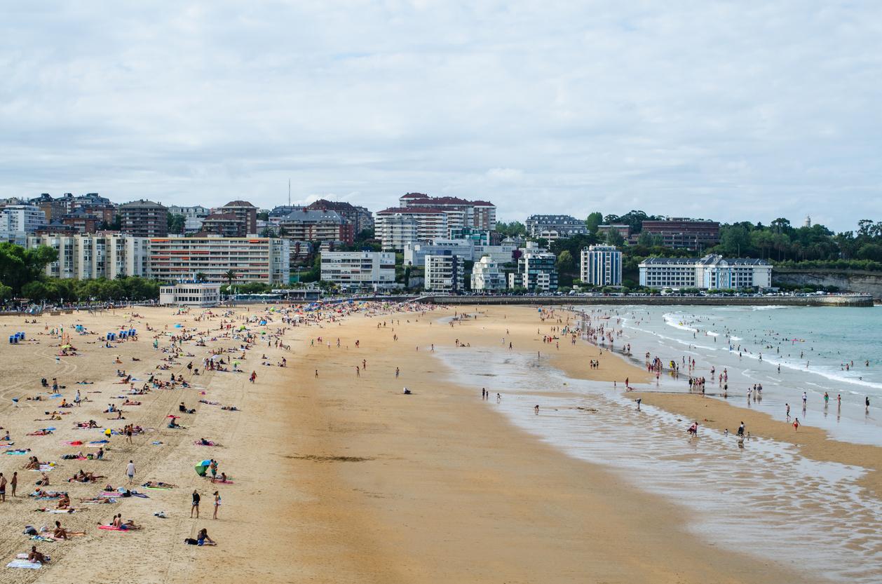 Sardinero beach in Santander, Spain.