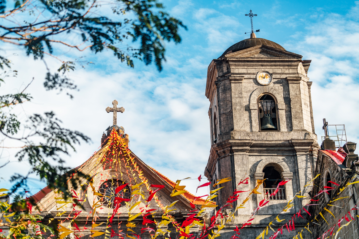 San Agustine church, the World Heritage Site and one of the most famous tourist attractions in Intramuros district of Manila, Philippines.