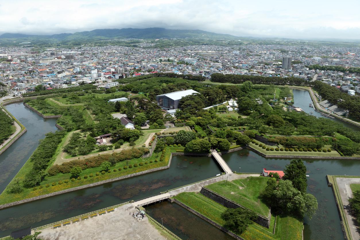 Goryokaku is a star fort in the city of Hokkaido, Japan.