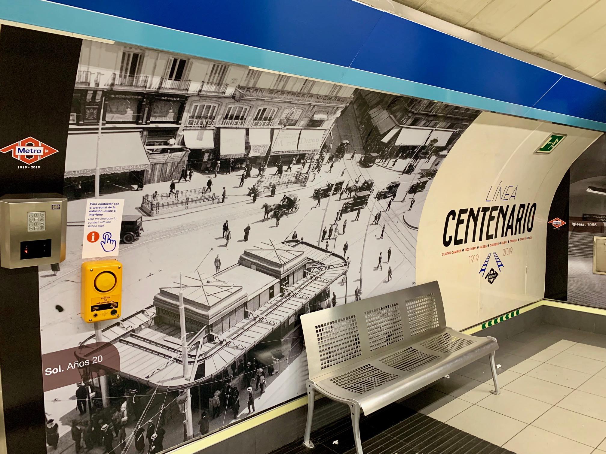 L2F Jul 19 pic Spain Madrid metro Tribunal Centenario