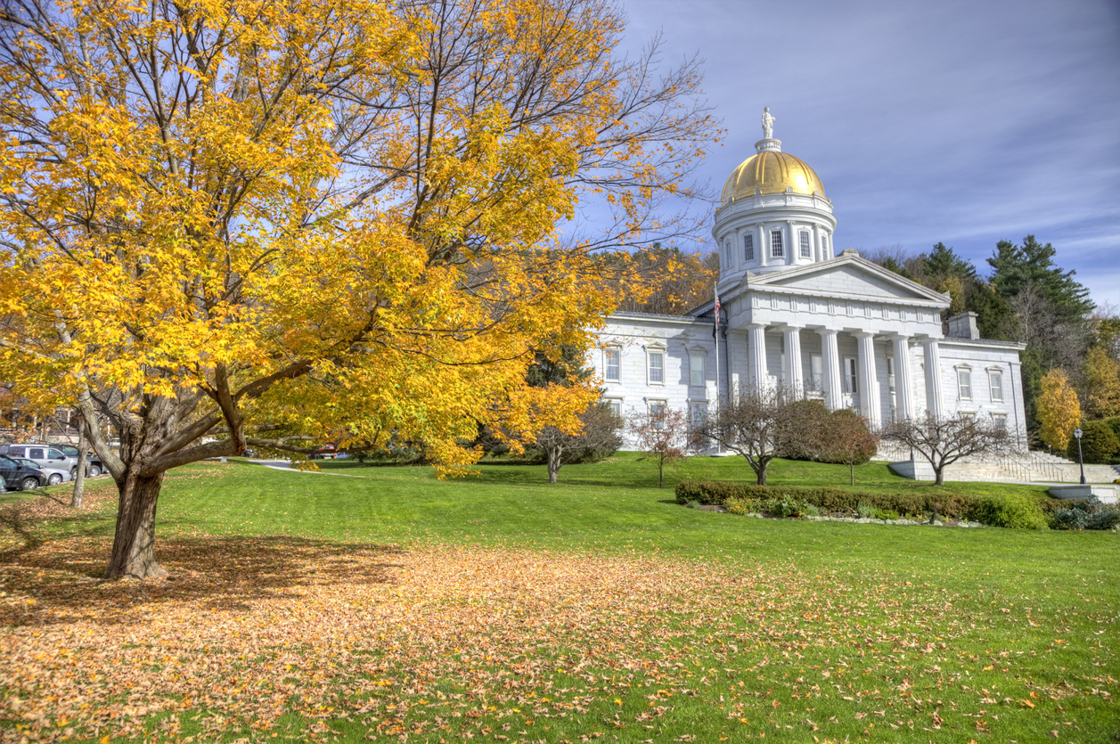 The Vermont State House, located in Montpelier, Vermont during the peak autumn foliage season. Autumn in downtown Montpelier, Vermont. Montpelier is a city in the U.S. state of Vermont that serves as the state capital. Montpelier has the distinction of being the smallest state capital in the United States. Montpelier is situated among foothills just to the east of the Green Mountains