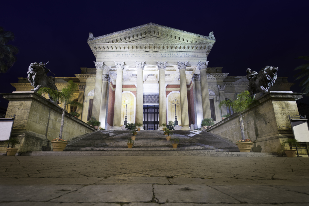 The wonderful theater of Palermo, Teatro Massimo, is the biggest in Italy and the third in Europe after Opera National in Paris and Staatsoper in Vienna. The building was designed by Giovanni Battista Filippo Basile at the end of XXIX century.