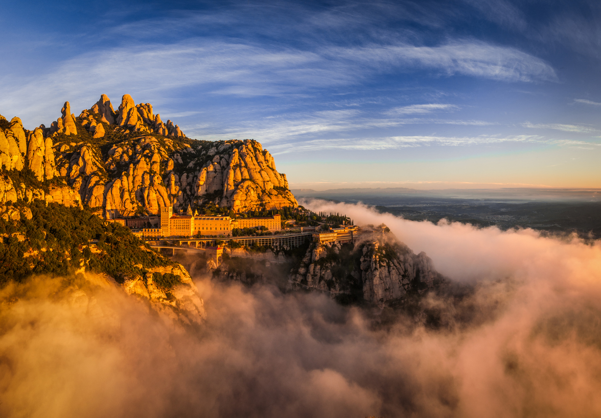 Montserrat mountain is a typical place to visit in Catalunya (Catalonia, Spain)