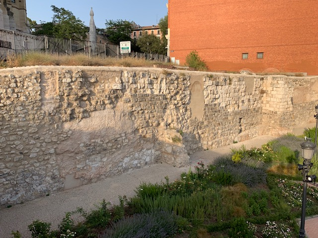 L2F Sep 19 pic Spain Madrid medieval wall isolated