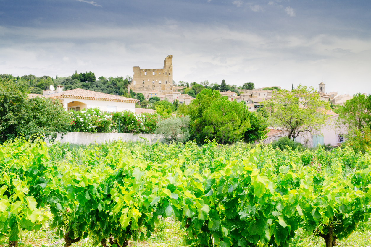 The provencal village of Chateauneuf-du-Pape in the south of France, famous for its full bodied red wine. AdobeRGB colorspace.