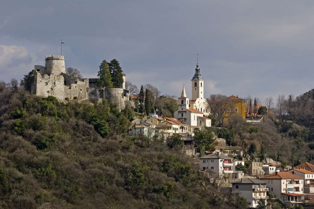 Trsat Castle, Church of Our Lady of Trsat and church of St George, town Rijeka, Croatia