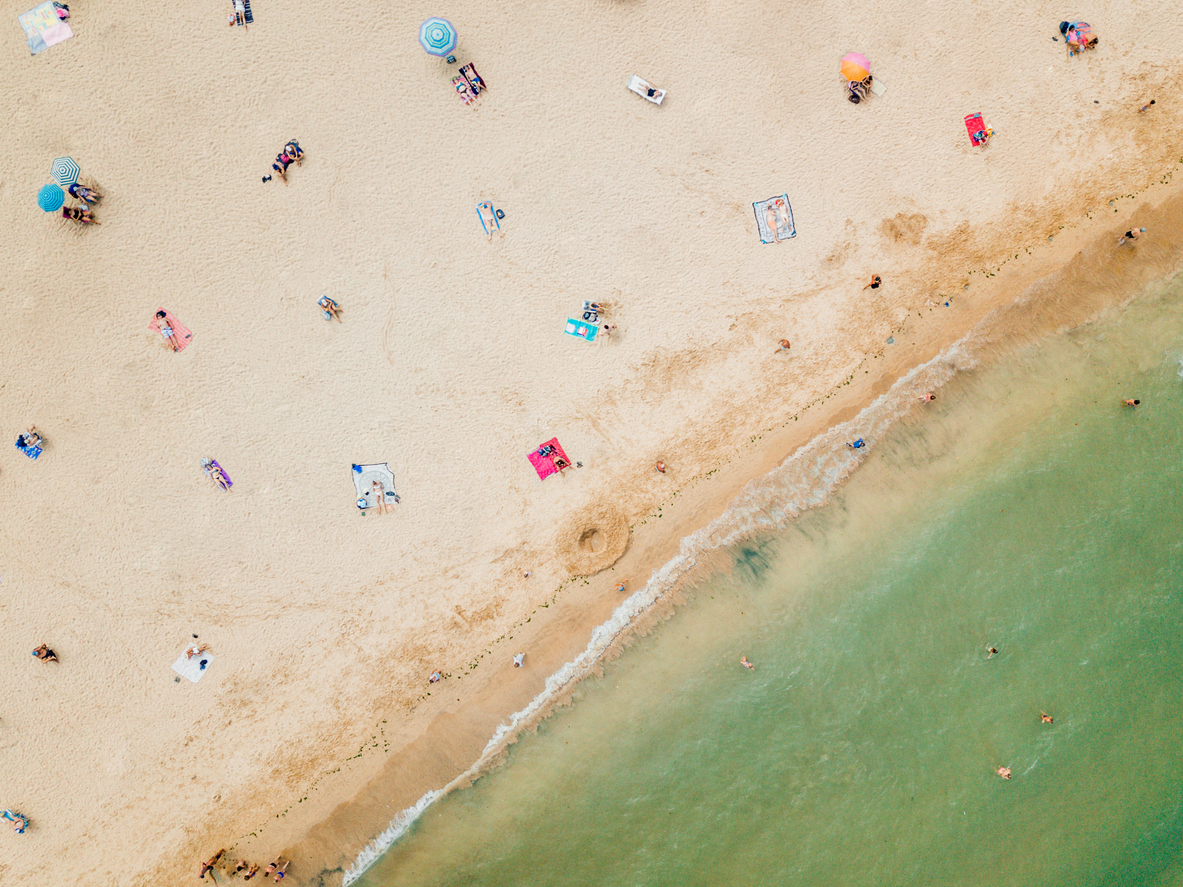L2F Jul 20 pic Spain reopens beaches aerial view iStock-1221878162