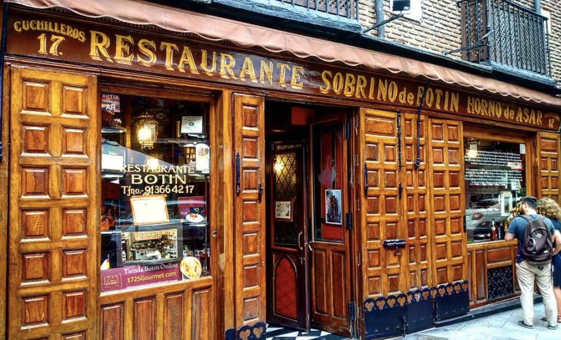L2F Sep 20 Spain Madrid historic restaurants Mesón Sobrino de Botín