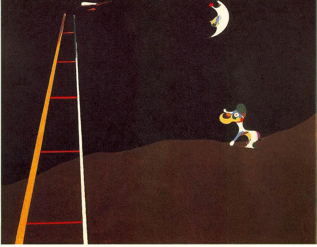 'Dog barking moon' von/from Joan Miró, 1926